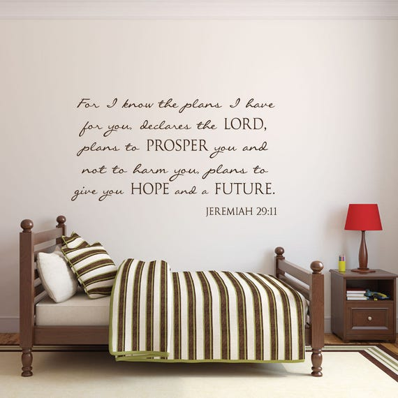 Scripture Wall Decal Nursery Wall Decals Nursery Decals | Etsy