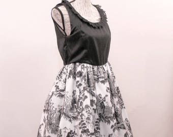Gothic Lolita Toile Dress,  Gothic Lolita JSK - Classic Lolita - Otome