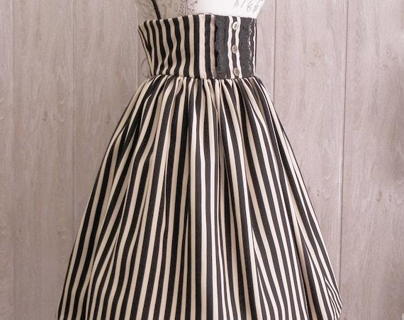 Golden and black strippes Skirt