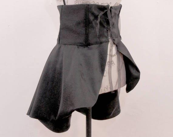 Goth strippes Overskirt