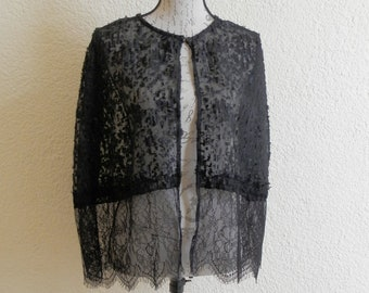 Decadent lace capelet