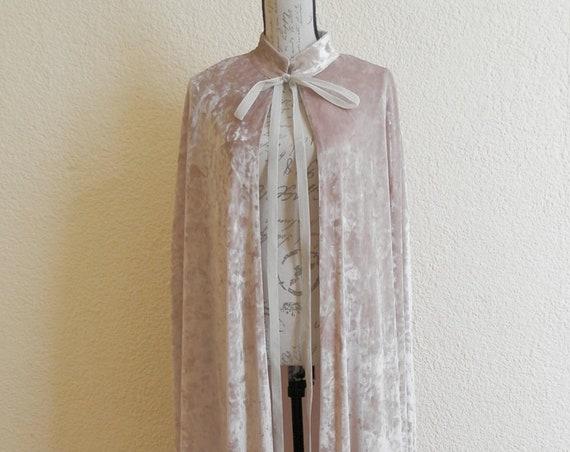 Velvet  ivory long cape,  wedding cape