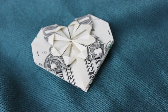 Origami Heart And Ring Dollar Bill One Dollar Stock Photo - Image ... | 380x570