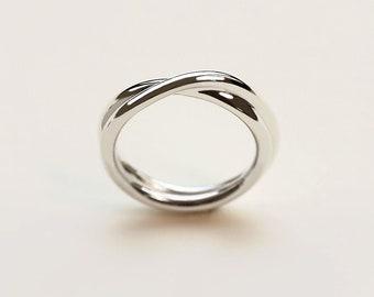 Medium Infinite Ring - infinity band - wedding ring