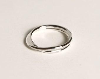 Small Infinite Ring - infinity band - wedding ring