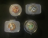 HP Houses of Wizardry Metal Pill Box Travel Silver Medicine Organizer Container.