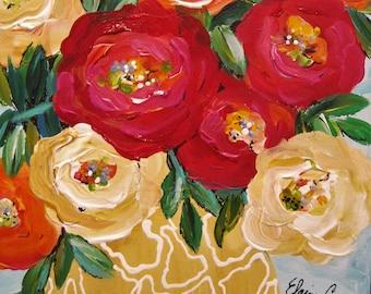 Copper Beauty Original Painting 16 x 16 Art by Elaine Cory