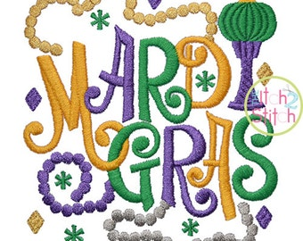 Mardi Gras 3 Embroidery Design For Machine Embroidery,  INSTANT DOWNLOAD now available