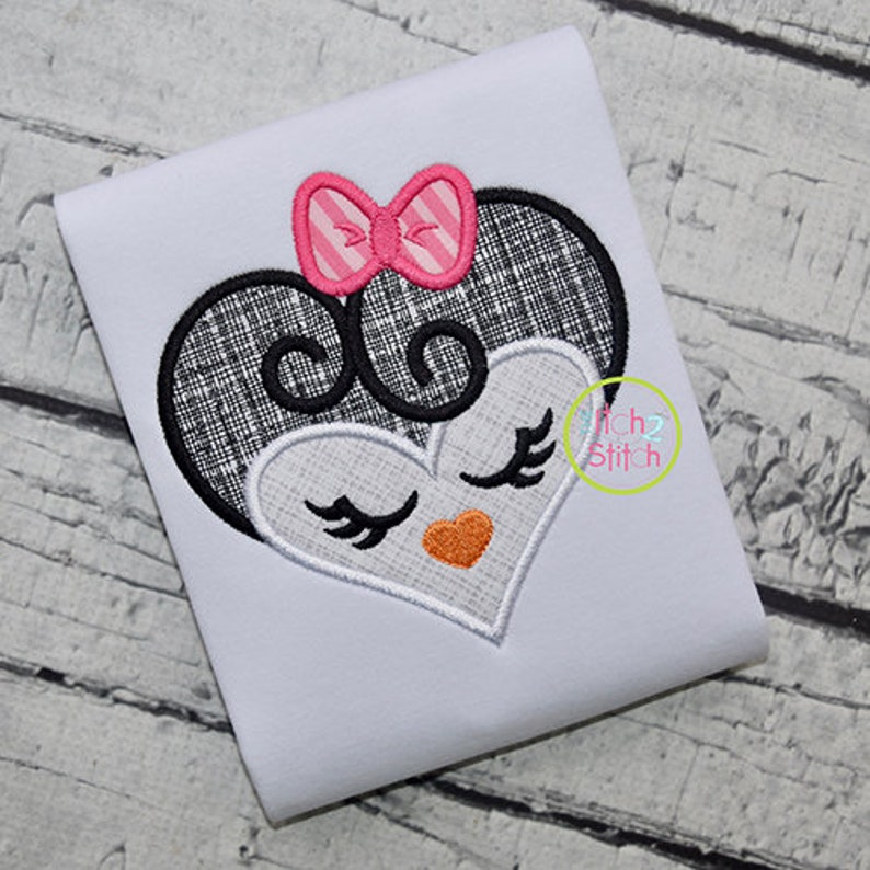 INSTANT DOWNLOAD available Heart Animal Face Applique Design Set for Machine Embroidery