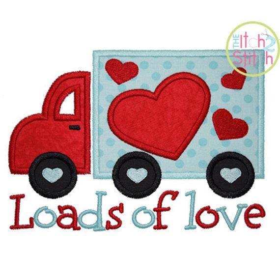 Loads Of Love Valentine Applique Design For Machine Embroidery Etsy