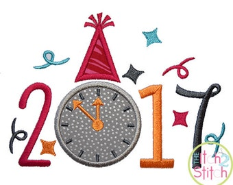 2017 New Year Applique machine embroidery design, INSTANT DOWNLOAD now available