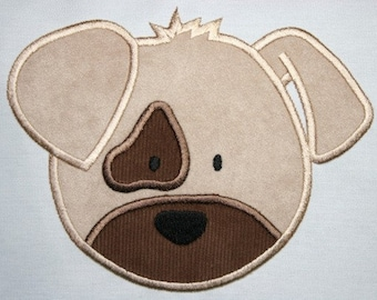 Puppy Face Applique Design 4x4 and 5x7  INSTANT DOWNLOAD now available