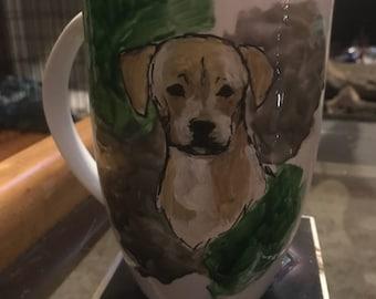 Custom painted coffee mug