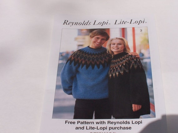 Reynolds Lopi Icelandic Knitted Sweaters Pattern Leaflet Etsy