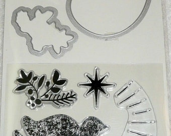 Mama Elephant stamp and die set - dove noel peace Christmas holiday