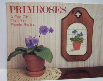 Primroses cross stitch pattern