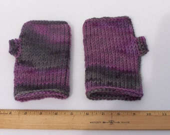 Women's medium wool fingerless gloves mitts