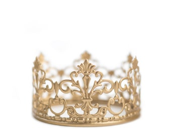Wedding Cake Topper, Crown Cake Topper, Gold Crown, Mini Crown, Wedding Decoration, Prince Party