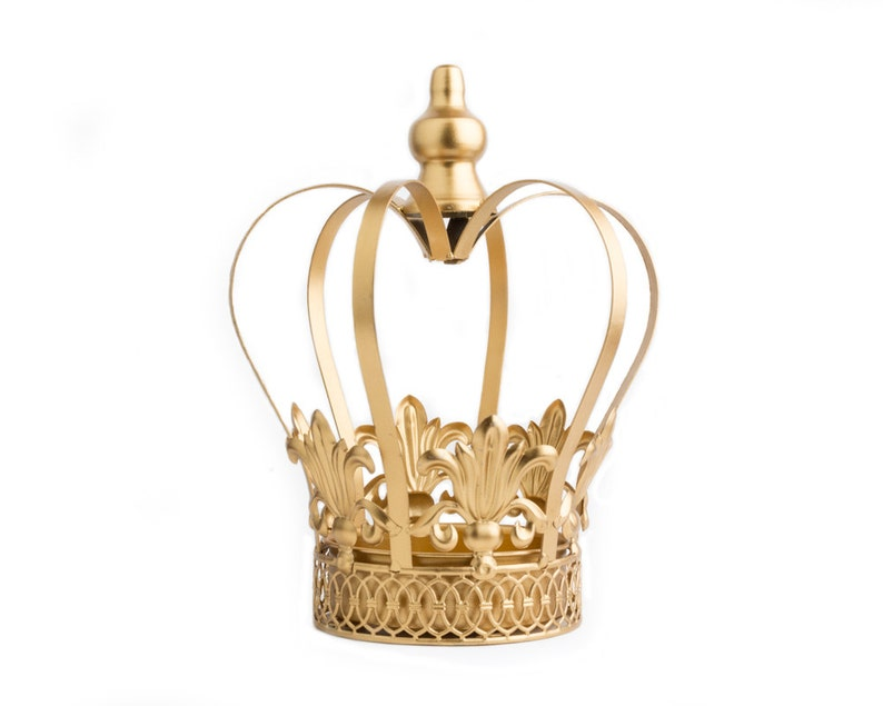 Gold Crown Centerpiece Gold Crown Large wedding cake topper image 0