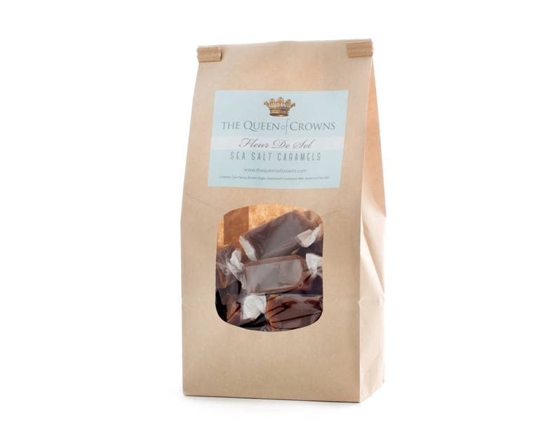 Sea Salt Caramel 1 pound gift bag - Queen of Crowns.