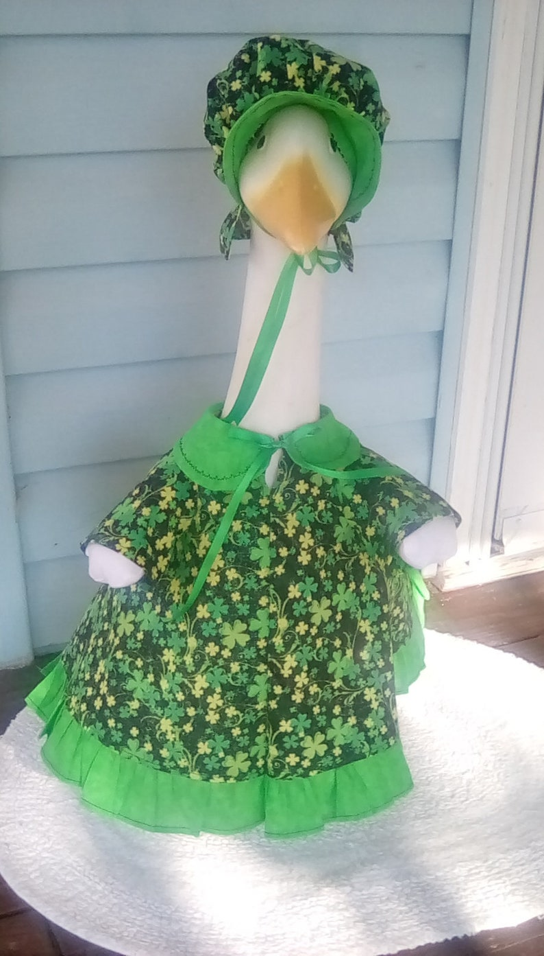 bf50be409ea372 Goose Clothing St. Patrick's Green Lawn Goose Dress   Etsy