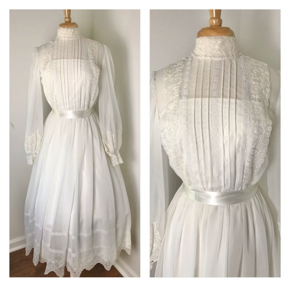 Vintage 1970s Gunne Sax-style Prairie Dress - image 1