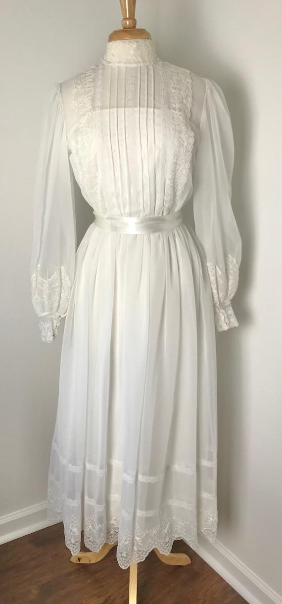 Vintage 1970s Gunne Sax-style Prairie Dress - image 6