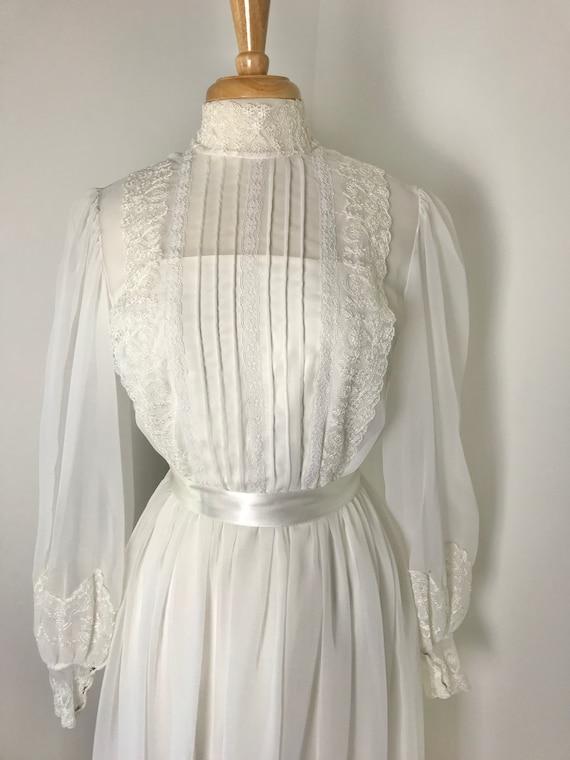 Vintage 1970s Gunne Sax-style Prairie Dress - image 4