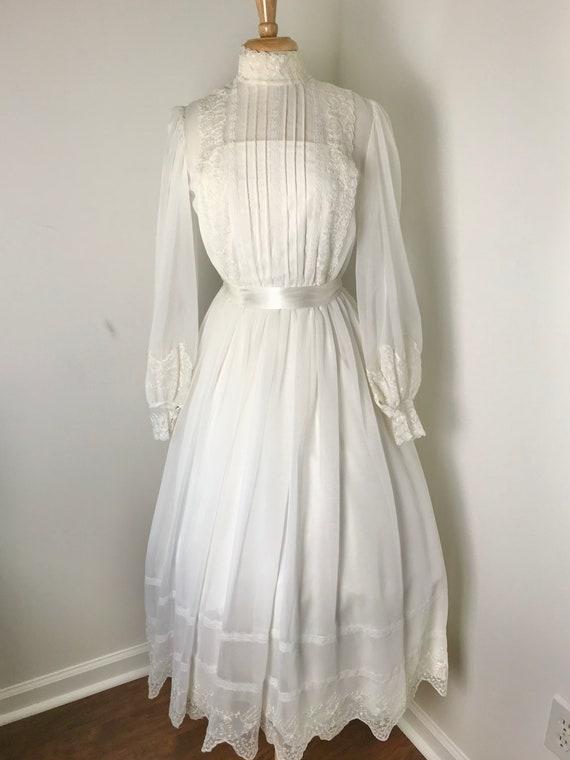 Vintage 1970s Gunne Sax-style Prairie Dress - image 2