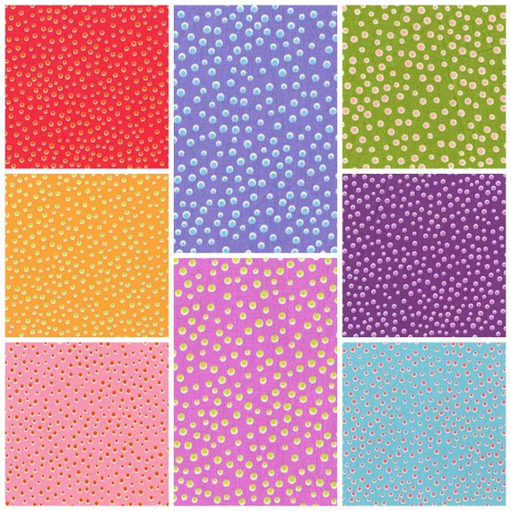 By 1//2 Yd Quiet Time Freckled Lilac Michael Miller Fabric Tamara Kate Purple Dot