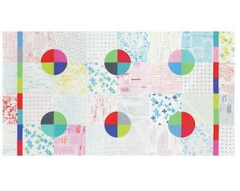 Modern Background Colorbox by Zen Chic - White Cheater Quilt Panel (1640-11) - 1 Yard - Moda