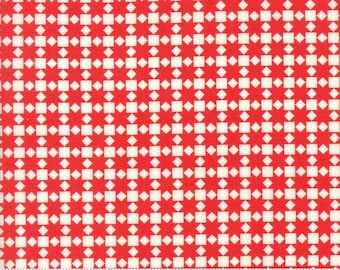 Handmade by Bonnie and Camille - Star Quilt in Red (55142-21) - Moda - 1 Yard