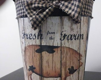 Pig Bathroom Decor Etsy