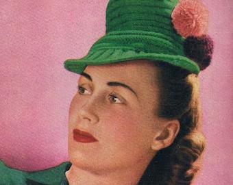 January 1945 STITCHCRAFT Publication No. 145/ UK knitting / sewing magazine - original patterns