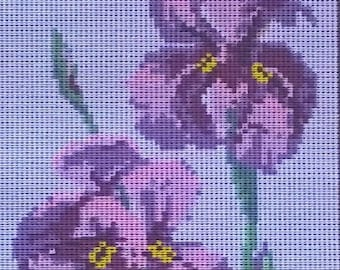 Purple Iris/ Tapestry Canvas/Unworked by Baxtergrafik