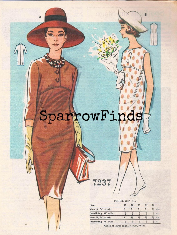 a0ebe1e57 3 años 60 sin usar patrones de vendimia en vendimia australiana Home  Journal Magazine - noviembre de 1964