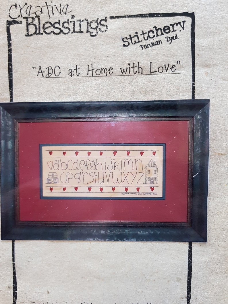 2003 Miniature Quilt ABC at Home with Love Pattern Kit by Elissa /& Goodfellow