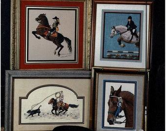Cross My Heart Inc - Cross Stitch Designs - Blue Ribbon Horses, 1993