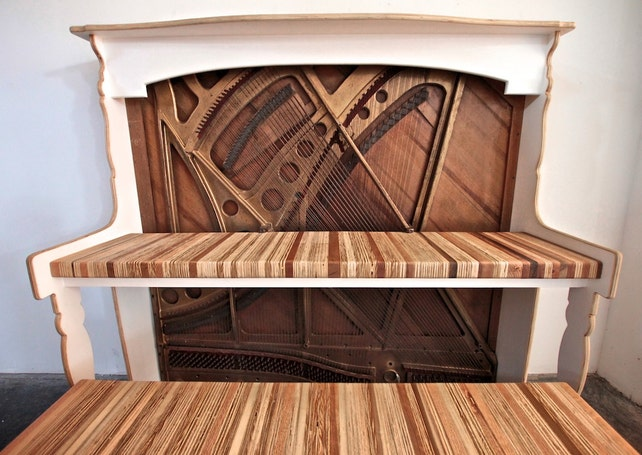 image 0 - Vintage Reclaimed Antique Piano Desk For Home Office // IMac Etsy