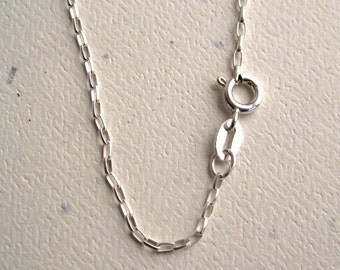Sterling Silver Rollo Chain Necklace with Spring Ring Clasp