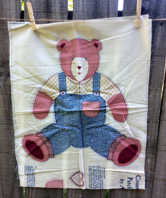 Country Classics Patchwork Bear Cut And Sew Vintage Fabric Etsy