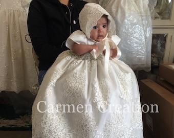 4e599498193 Florence Christening Gown Light Ivory. CarmenCreation