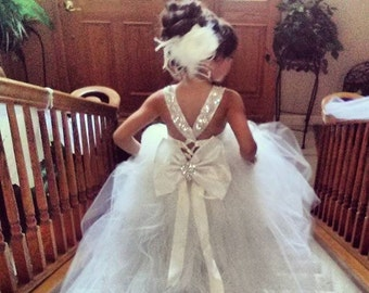 d42f8daf52b Mini Bride Flower Girl Dress. CarmenCreation