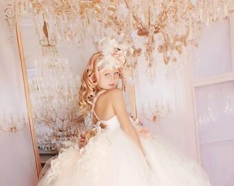426e2d86244 Dream Mini Bride Feather Dress. CarmenCreation