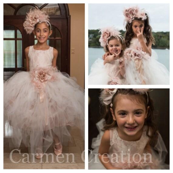 ecde90ede21 Blush Pink Mini Bride Dress