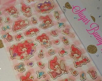 Kawaii Sticker Sheet My Rose Melody planner stickers scrapbooking cute for letters labels and tags, School, crafts, Books, Paper Stationery