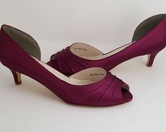 Burgundy Wedding Shoes Burgundy Bridal Shoes Burgundy Kitten Heels Over 100 Custom  Color Choices Burgundy Bridesmaid Shoes. ABiddaBling 4.5 out of 5 ... 9d7064a53a86