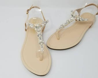 15bf3bf3e0c33 Ivory Wedding Sandals with Pearls and Crystals Ivory Bridal Sandals  Destination Wedding Sandals Beach Wedding Sandals Beach Wedding Shoes