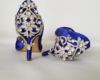 Royal blue shoes | Etsy