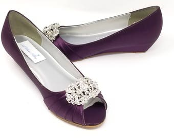 More Colors. Eggplant Purple Wedding Shoes ...